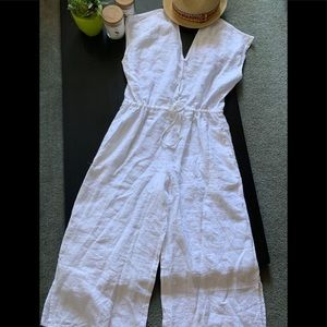 🌼 Anthropology CLOTH&STONE summer white jumpsuit